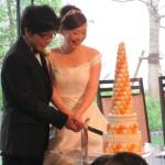 ケーキ入刀   幸せそう♡
