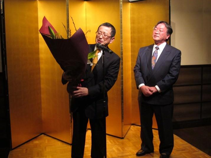 同門会代表小野先生から